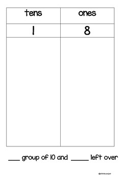 Decompose and Compose numbers 11-19 math center activity!