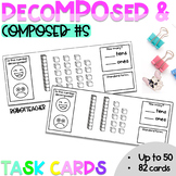 Decomposed and Composed Numbers Task Cards (to 50)