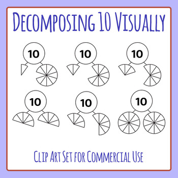Decomposing 10 Visually - Number Decomposition Clip Art Se