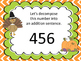 Decomposing 3 Digit Numbers Center--Thanksgiving Graphics