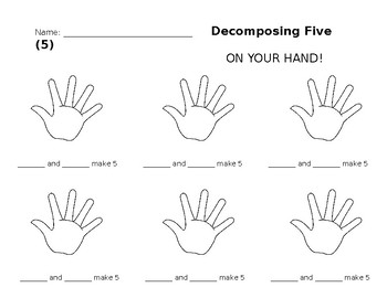 Decomposing 5 On Your Hand