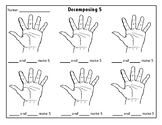 Decomposing 5 using your hand