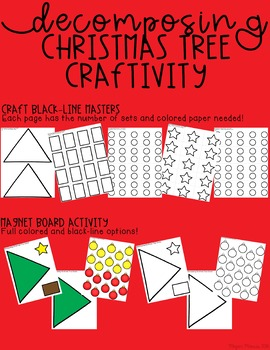 Decomposing Christmas Tree Math Craftivity
