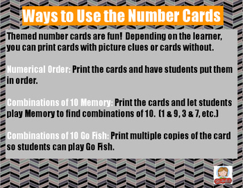 Fall Decomposing/Composing 10 Number Cards {Halloween and Fall Themed}