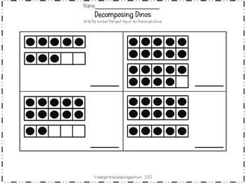 Decomposing Dinos Number Sense Game