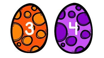 Dinosaur Egg Line Markers