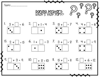Decomposing Dominoes - Number Bond Worksheets