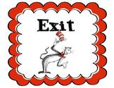 Dr. Seuss Door Signs