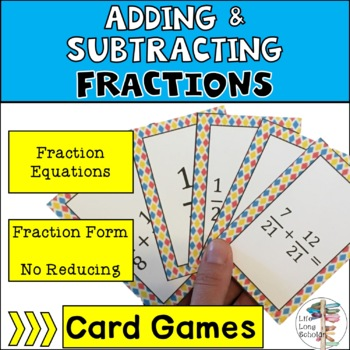 Decomposing Fraction Addition and Subtraction game (easier