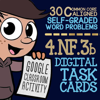 Decomposing Fractions ★ 4th Grade Google Classroom Activity ★ 4.NF.3b Task Cards