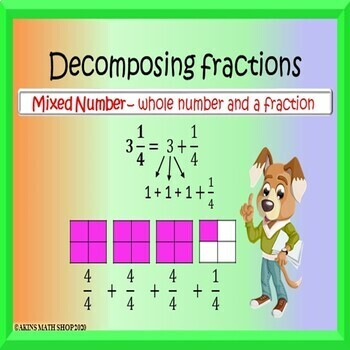 Decomposing Fractions Boom Cards