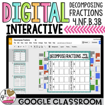 Decomposing Fractions Digital Lesson to use with Google Classroom