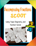 Fractions Scoot (decomposing using tape diagrams and numbe