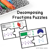 Add Fractions Like Denominator Game Puzzle Decomposing Fraction 4th Grade 4.NF.3