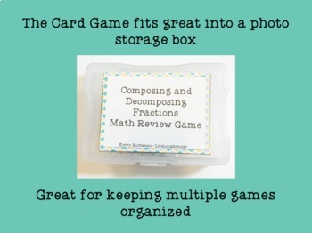 Decomposing Fractions Addition and Subtraction Game (Advanced version)