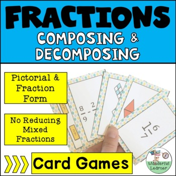 Decomposing Fractions Addition and Subtraction Game (Advan