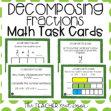 4th Grade Decomposing Fractions Task Cards | Decomposing F