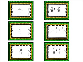 Decomposing Fractions Memory Game