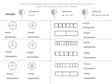 Decomposing Fractions Practice Worksheet