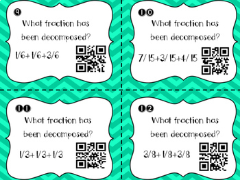 Decomposing Fractions QR Codes
