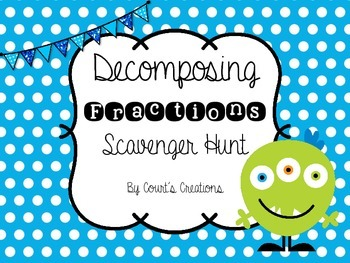 Decomposing Fractions- Scavenger Hunt