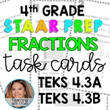 Decomposing Fractions TEKS 4.3A 4.3B Task Cards