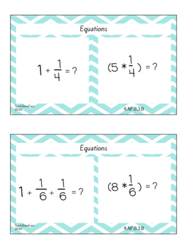 Decomposing Fractions Task Cards: 4.NF.3b