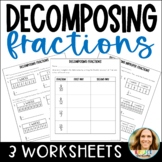 Decomposing Fractions Using Models and Equations Worksheet