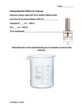 Decomposing Liters and Milliliters Module 2 Eureka Math Grade 3 (3.MD.A.2)