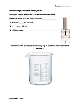 Decomposing Liters and Milliliters Module 2 Eureka Math Grade 3 (3.MD.A.2)