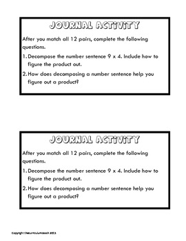 Decomposing Multiplication Facts Match Up