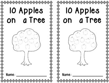 Decomposing Number Books - 4-10 (apple theme)