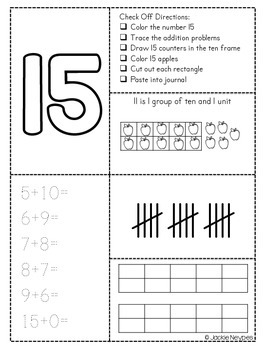Decomposing Numbers Interactive Journal
