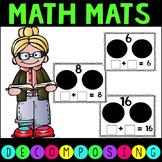 Decomposing Number Mats 2-20 Math Work Stations