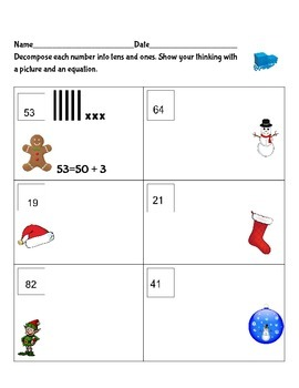 Decomposing Numbers to 100 Holiday Style