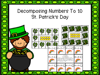 Decomposing Numbers to 10 Game      St. Patrick's Day