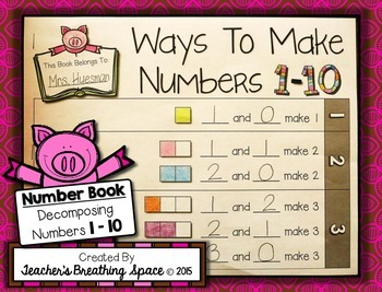 Decomposing Numbers 1-10 --- Ways To Make Numbers 1-10 Num