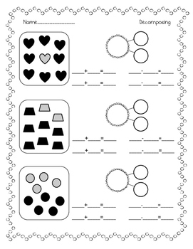 penguin ten frames up to 20 math worksheets ...