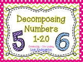 Decomposing Numbers 1-20 Worksheets