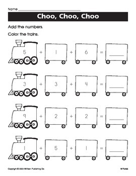 Decomposing Numbers 10 and Under (CCSS K.OA.A.3)