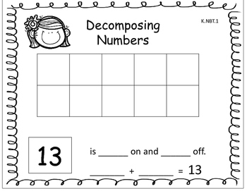 Decomposing Numbers 11-19 K.NBT.1