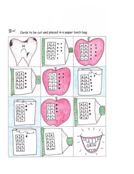 Decomposing Numbers 11 to 19 Dental Health Math Game Center Base Ten