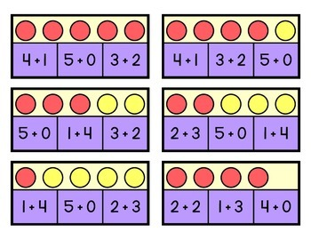 Decomposing Numbers to Five - Clip Game