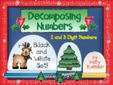 Decomposing Numbers 2 and 3 Digits Black and White Set