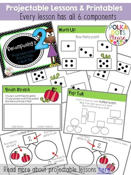 Number Sense and Decomposing Numbers to 10 Unit (Projectable Lessons)