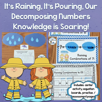 Decomposing Numbers 3-10 Center, Practice Pages, Equation ...