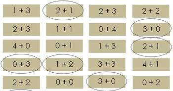 Decomposing Numbers 3-10 Individual Practice- Kindergarten
