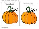 Decomposing Numbers 3, 4, 5 fun!  Halloween and Thanksgiving