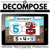 Decomposing Numbers 5 and 10 Slides Distance Learning Math