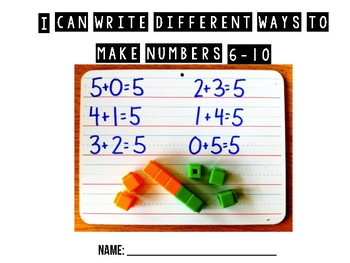 Decomposing Numbers 6-10